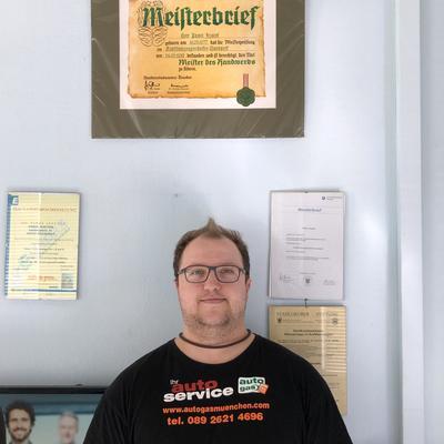 Werkstattsleiter Sebastian Böhme